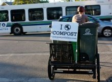 Bike-powered composting