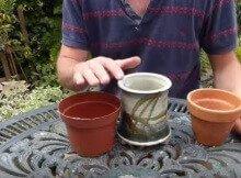 Reusing plant pots