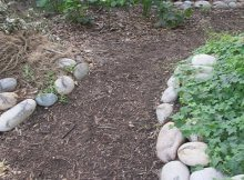Building an urban garden swale
