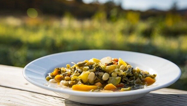Summer garden veggie minestrone recipe