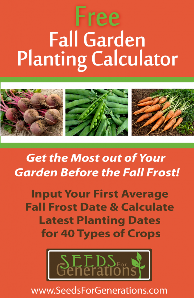 Fall Garden Planting Calculator
